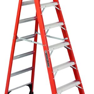 Rent Louisville Ladder FS1408HD 375-Pound Duty Rating Fiberglass Step Ladder, 8-Feet